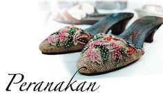 peranakan culture - Google Search  The hand-sewn shoes.