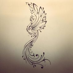 Phoenix tattoo by FingerPrint1404.deviantart.com on @deviantART