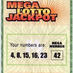 Lost | Hurley won the $114 million Mega Lotto Jackpot ticket with the numbers 4, 8, 15, 16, 23, and Mega Number 42 — which all went…
