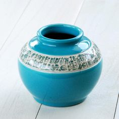 Blue glazed vase with ancient cuneiform decoration ペルシャブルーの花瓶(小) - Beckyson ベッキーソン http://www.beckyson.co/?pid=69134398