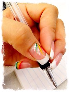 Rasta Nails Manicure At Home, Nail Manicure, Nail Polish, Pedicure, Cute Nails, Pretty Nails, My Nails, Pretty Nail Designs, Nail Art Designs