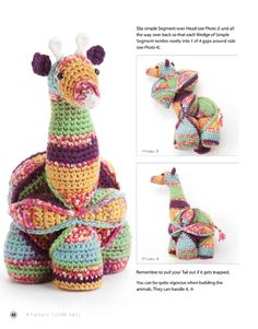Gemina the Giraffe assembly. Crochet Baby Toys, Crochet Hats, Puzzles, Giraffe, Crochet Patterns, Album, Christmas Ornaments, Holiday Decor, Collection
