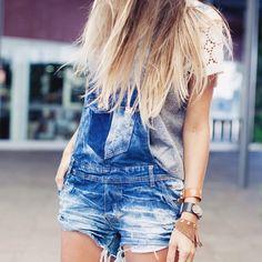 look do dia com jardineira jeans