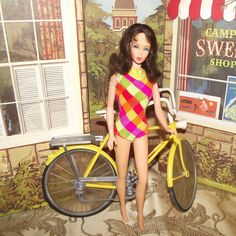 Vintage Marlo Flip Barbie #1160 In Original Swimsuit Circa 1969 from Stuck On Dolls       stuckondolls@gmail.com for $145.00