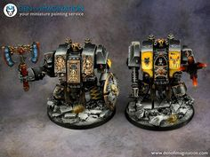 Den of Imagination has gone wolfy with this incredible Epic Space Wolves Army! Warhammer Figures, Warhammer Models, Warhammer 40k Miniatures, Warhammer 40000, Warhammer 40k Space Wolves, Wolf Painting, Black Space, Space Marine, War Hammer