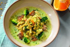 Zuppetta di broccoli e vongole con passatelli all�arancia