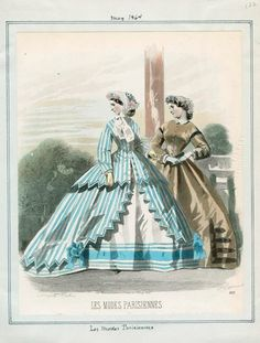 Les Modes Parisiennes, Peterson's Magazine, May 1864. LAPL Visual Collections. Civil War Women/In the Swan's Shadow