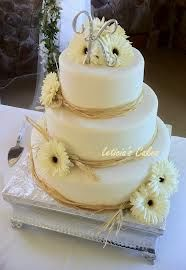 Country wedding cake, but with pink flowers