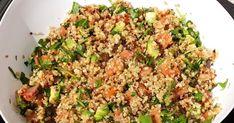 Salade de quinoa au saumon fumé roquette et avocat