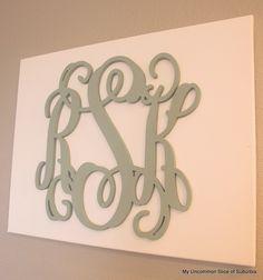 DIY Monogrammed Canvas Art
