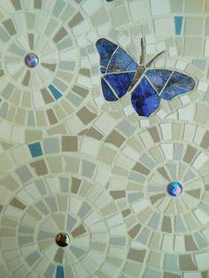 Beautiful Blue Glass Butterfly Mosaic by lamosaicgifts on Etsy, $50.00
