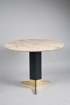 Parisian Moment - collection of images - Ignazio Gardella; Brass, Enameled Steel and Marble Center Table, Furniture Dining Table, Dinning Table, Foyer Tables, Modern Furniture, Furniture Design, Boston Furniture, Target Furniture, Side Coffee Table, Side Tables