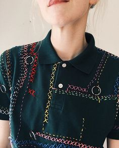 Inspiration from Tessa Perlow Embroidery Stitches, Embroidery Patterns, Hand Embroidery, Diy Fashion, Fashion Outfits, Fashion Design, Classy Fashion, French Fashion, Style Fashion