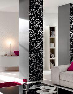 Woonkamer Decokay Design behang flock. Wallpaper living room by ...