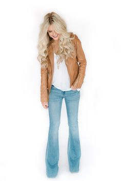 A leather jacket is a versatile piece for fall. Here's how to style one four ways!