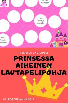 Prinsessa -lautapelipohja - Viitottu Rakkaus Something Something, Pre School, Bingo, Emoji, Movie Posters, Movies, Girls, Toddler Girls, Films