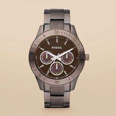 FOSSIL® Watch Collections Stella Watches:Women Stella Stainless Steel Watch - Brown ES3021
