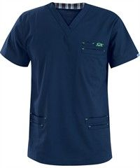 IguanaMed Scrubs Men's MedFlex II 6-Pocket Top Dental Shirts, Scrubs Uniform, Male Nurse, Medical Uniforms, Medical Scrubs, Scrub Tops, Dress Patterns, Work Wear, Mens Fashion