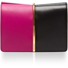 Nina Ricci Arc Small Two-Tone Leather Clutch