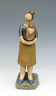 clay ceramic sculpture Buddha by sara swink