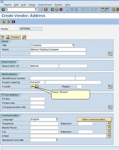 Tutorial about SAP Vendor Master Data in Materials Management. Learn about vendor master records in SAP MM, their functions, and how to create a new vendor. Purchase Department, Fax Number, Financial Accounting, Trading Company, Free Training, Company Names, Management, Beach