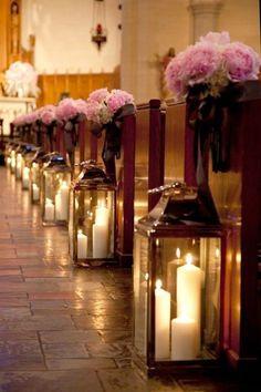 Iluminacion_bodas con velas en la iglesia