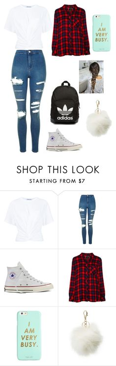 """~Don't Want To Be At School~"" by jessica-macfarlane on Polyvore featuring T By Alexander Wang, Topshop, Converse, Rails, adidas Originals, ban.do and Charlotte Russe"