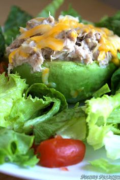 Avocado Tuna Melt: Clean Low Carb, High Protein Meal!