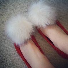 5+1 FREE, Bridesmaid Slippers, Knit Slippers, Red Slippers, House Shoes, Soft  Slippers, Wedding Slippers, Women Gift, Slippers with pompom by DandelionWoolDesign on Etsy