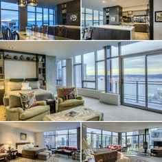 Luxury Real Estate Search finds this spectacular sub-penthouse at #Cristalla. Built in 2004, 3 bedrooms, 3.25 bathrooms in 3,393 square feet of living space overlooking #ElliottBay & the Olympics with 24 hr doorstaff, #rooftop #terrace #gym #spa & more offered at $3,500,000 listed by Moira E. Holley #moiraonline  with Reologics Sotheby's International Realty #Seattle #Washington #ocean #view #luxury #realestate #luxuryrealestatesearch