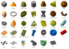 netfabb Professional 5.1 and netfabb Private include a large library of all types of geometric shapes - and they are all customizable. Use them to change the design of your existing models or create your own models out of nothing.
