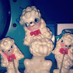 vintagevandalizm:  My japanese ceramic poodles circa 1950s. I love poodles!  #antiques (Taken with instagram)
