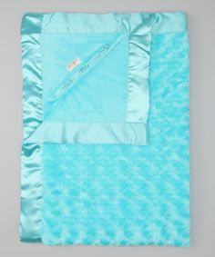 Goo-Goo Baby Blue My Mind Plush Pocket Crib & Stroller Blanket