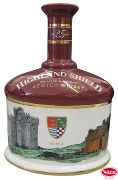 Highland Shield Scotch Whisky Ceramic Decanter.
