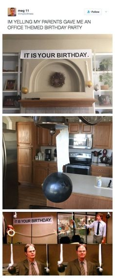The parents who gave their The Office-loving kid a birthday he'll never forget: | 50 Absolutely Hilarious Parents Who Will Make You Pee-Laugh #ParentsKids&Parenst
