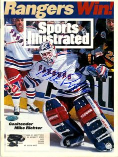 Mikey Richter Sports Illustrated Rangers Win #MikeRichter #NYR