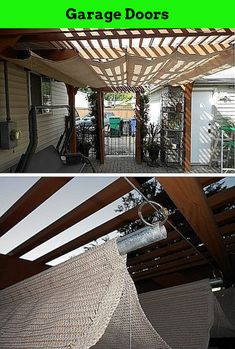 Carriage Garage Doors - How To Paint A Garage Door. #garageentrance, #garagefloor, #mancavegarage. Simply click the link to learn more Garage Doors  Please click here to learn more. Carriage Garage Doors, Shade Structure, Man Cave Garage, Garages, Pergola, Entrance, Entryway, Appetizer, Garage