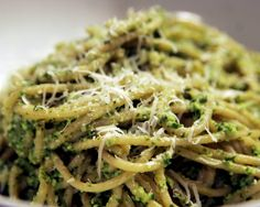 Herbie Likes Spaghetti: Kale and Edamame Pesto - An Original Creation