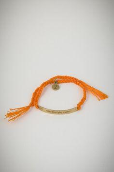 "Orange bracelet with golden square pendant ""zinetastyle.com"". Orange Square, Friendship Bracelets, Pendant, Jewelry, Jewellery Making, Jewerly, Jewelery, Pendants, Jewels"