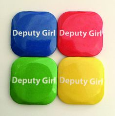 "square badges with a plastic back and safety pin. This particular design has ""Deputy Boy"" printed on it. School Badges, Button Badge, Boy London, Monitor, Buttons, Boys, Prints, Badge, Badges"