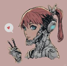 ArtStation - cyborg girl, Ching Yeh