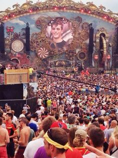 Tomorrowland festival. *big outdoor dance festivals are practically invented by the dutch*