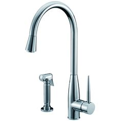 Dawn Single-Lever Kitchen Faucet With Side-Spray - Chrome AB50 3178C – Showroom Sinks