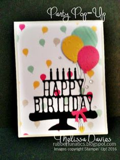 Stampin' Up! Party Pop-Up by Melissa Davies @rubberfunatics #rubberfunatics #stampinup