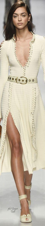 @roressclothes closet ideas #women fashion white dress Ermanno Scervino Spring 2017