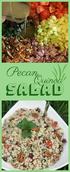 Everybody loves my Pecan Quinoa Salad. Even Truck Drivers! Click the image to see more! Gluten Free Recipes For Lunch, Gluten Free Dinner, Lunch Recipes, Salad Recipes, Dinner Recipes, Quinoa Salad, Vegetable Recipes, Pecan, Truck Drivers