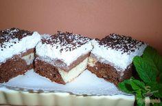 reszelt csokoládéval mindenki tetszését elnyeri. A süteményben a kakaós és világos tészta, az ízletes krém és a tejszínhab váltogatják egymást. Én most egy tepsiben sütöttem, de tortaformában is elkészíthető, ahogy nekünk kényelmesebb.