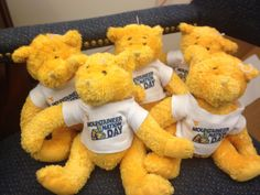 The Mascot Factory donated these adorable #MountaineerNation Day bears for WVU Children's Hospital.