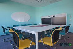 Office design by for Deutsche Telekom Services Europe - Romania Office Interior Design, Romania, Office Desk, Corner Desk, Conference Room, Europe, Table, Furniture, Home Decor