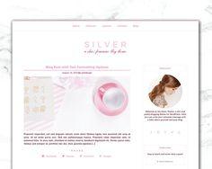 Feminine WordPress Theme  SILVER  WordPress by WebDesignStudio